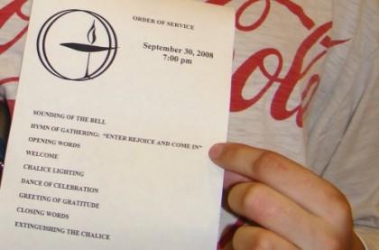 First Service - Sept 30, 2008